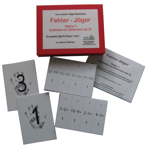 Fehler-Ju00e4ger-Paket Mathe von Verlag Lernspielkiste - Shop fu00fcr Lernmittel zum u00dcben und Trainieren